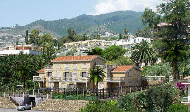 Новые апартаменты в вилле в 400 метрах от моря и с видом на море в Сан Ремо Лигурия